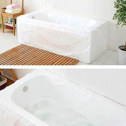 TFY Ultra Large Disposable Film Bathtub Bag for Salon, Household and Hotel Bath Tubs (