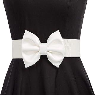 GRACE KARIN کمربند گسترده ای کمربند زنانه Vintage Big Bow Knot Corset Wistist