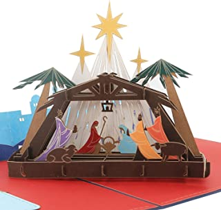 3D Christmas Card - Birth of Jesus - Pop up Cards, Religious, Greeting Card By AITpop