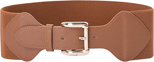 GRACE KARIN Women Elastic Stretchy Vintage Wide Waist Cinch Belt with Buckle