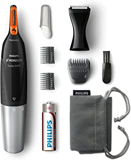 Philips Norelco NT5175/49, Nose Hair Trimmer 5100,Washable Mens Precision Groomer for Nose, Ears, Eyebrows, Neck, and Side...
