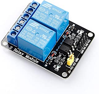 SunFounder 2 Channel DC 5V Relay Module with Optocoupler Low Level Trigger Expansion Board for Arduino UNO R3 MEGA 2560 12...