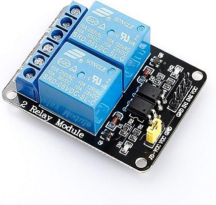 Hiletgo/® 3pcs 5/V 2/Channel modulo rel/è rel/è scheda di espansione con Optocoupler basso livello Trigger Shield per Arduino UNO Raspberrypi 8051/AVR ARM MSP430/e fai da te