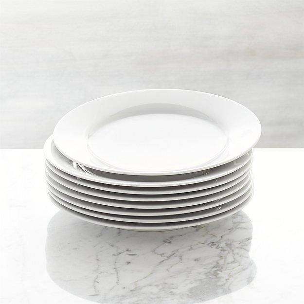 Set of 8 Aspen Salad Plates | Crate and Barrel