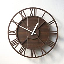 Wall Clock Wall Clock Mute Living Room Wall Charts Nostalgic Nordic American Country Style Watch 39.4CM * 39.4CM LJJCUICAN...