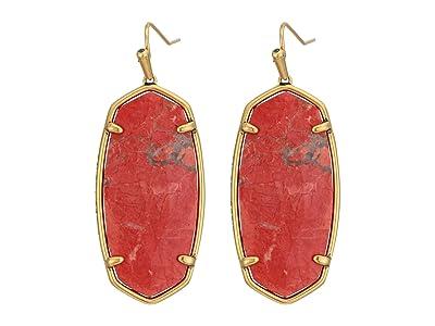 Kendra Scott Faceted Elle Earrings (Vintage Gold Burnt Sienna) Earring