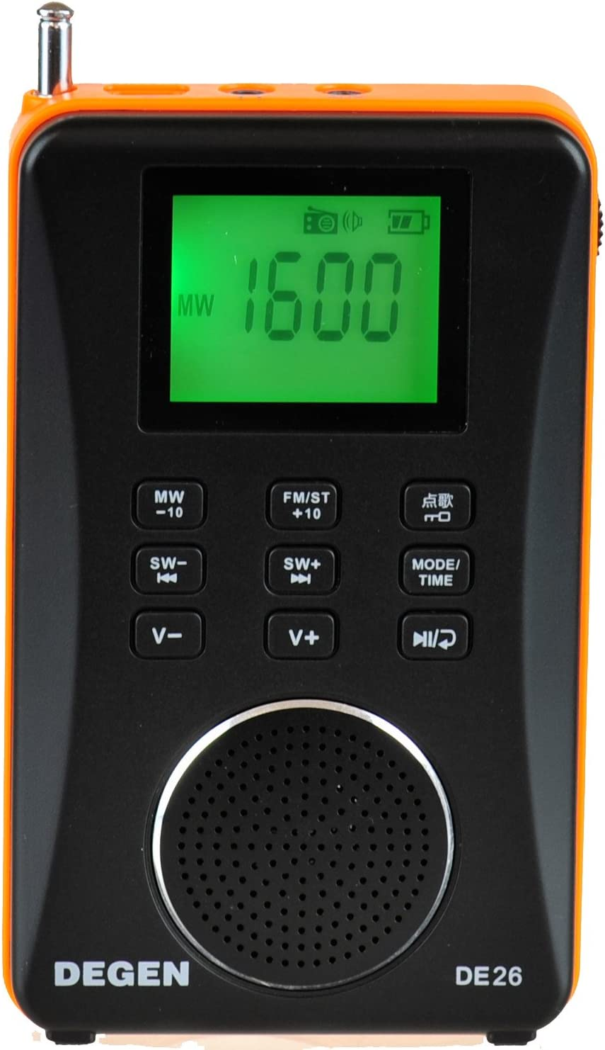 DEGEN Max 85% OFF DE26 3-in-1 Rechargeable AM S Shortwave FM Portable Direct stock discount Radio