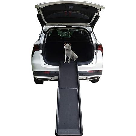 Llctools Hunderampe Hundetreppe Hundeautorampe Kofferraumrampe Für Haustiere Hundeeinstiegshilfe Auto Rampe Hund Tierrampe Rutschfest 156x40x8 Cm Haustier