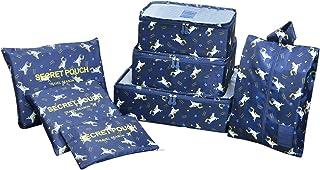 Resväska arrangör resor klädväskor, EASEHOME 6 st vattentät resväskearrangör packväskor bagage för kläder skor underkläder...