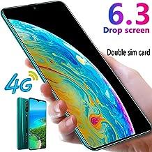 L-PH Android 9.1 10 Core Fingerprint Face ID Unlock Smart Phone/6.3 inch Dual 4G LTE Dual SIM Big Screen Phone Green (Color : 6+64g)