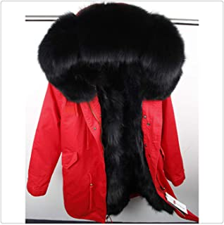 Winter Jacket Coat Women Parka Big Real Raccoon Fur Collar Natural Fox Fur