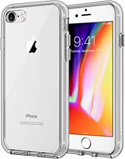JETech Case for Apple iPhone 8 and iPhone 7, 4.7-Inch, Shock-Absorption Bumper Cover, Anti-Scratch Clear Back, Grey