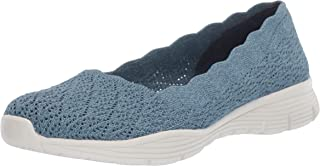 Skechers Women's Seager-Infield-Scalloped Engineered Knit Skimmer Ballet Flat