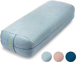 Ajna Yoga Bolster Pillow for Meditation and Support – Rectangular Yoga Cushion..