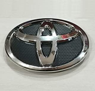 New 1PCS of Corolla Front Grille Emblem Chrome Black for 2009-2013 toyota Corolla -OEM