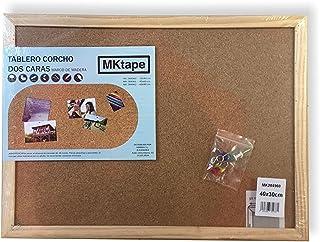 Mktape MK284960 - Tablero corcho con marco de madera, 30 x 40 cm