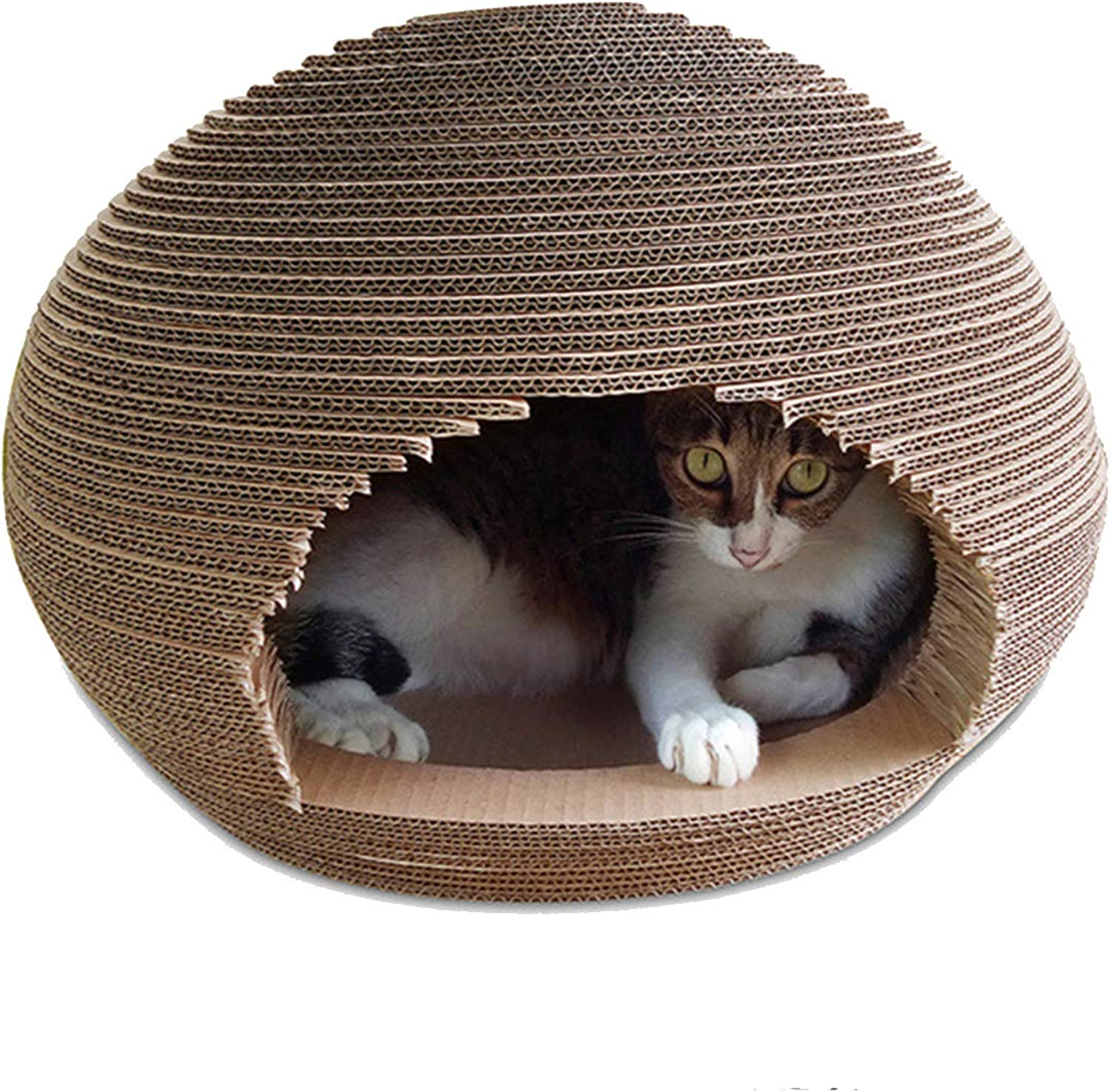 Corrugated Cat House Cat Furniture Sphere Cat Litter Cat Scratch Board Cat Claw Toy Cat Supplies 45X45X33.5cm