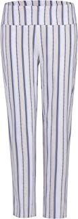 Women's Casual Striped Pull-on Stretchy Work Pants