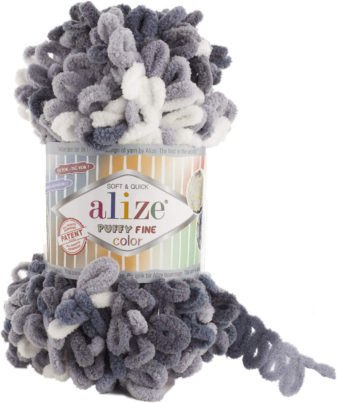 Alize Puffy Fine Color Yarn Baby skeins 5 Blanket 50 of Gorgeous Lot low-pricing