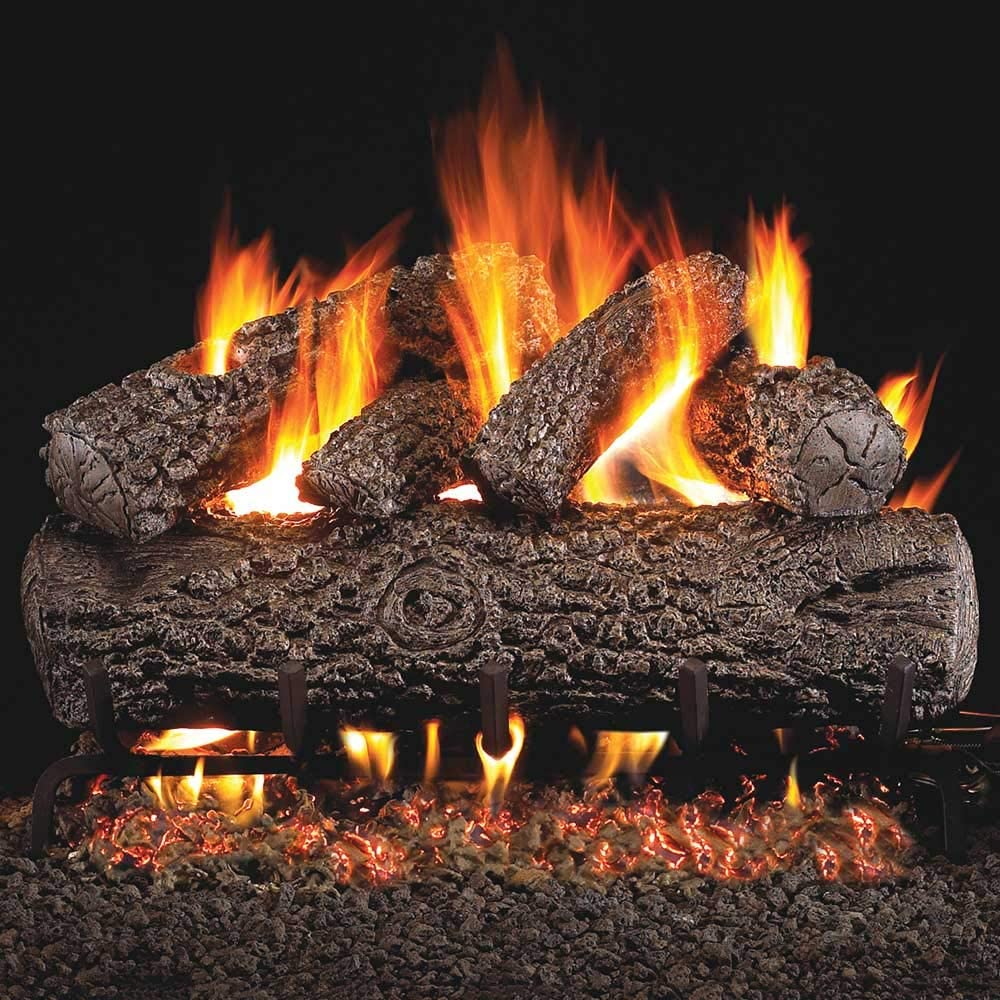 Peterson Real Fyre 24-inch Post Oak Natural 5% OFF Set Log Manufacturer regenerated product Vented With