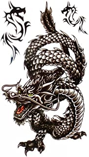 King Horse Cool waterproof and Black Dragon Tattoo sticker for men by King Horse