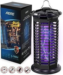 Aerb Lámpara Antimosquitos, LED Mosquito Lámpara Trampa, 10W de Luz UV, 1000V Potencia de Alto ...