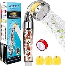 YUNSYE Ionic Shower Head Handheld High Pressure Water Saving,Lemon aroma filter shower for Hard Water Low Water Pressure,3...