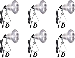 Simple Deluxe HIWKLTCLAMPLIGHTSX6 6-Pack Clamp Lamp Light with 5.5 Inch Aluminum Reflector up to 60 Watt E26/E27 (no Bulb Included) 6 Feet 18/2 SPT-2 Cord UL Listed