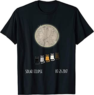 Cats Wearing Shades, Solar Eclipse, Funny Cat T-shirt