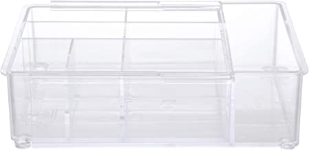 """Kenney Expandable Drawer Organizer Tray, KN68051V1, Clear, 9"""" x 6.75"""" x 2.5"""""""