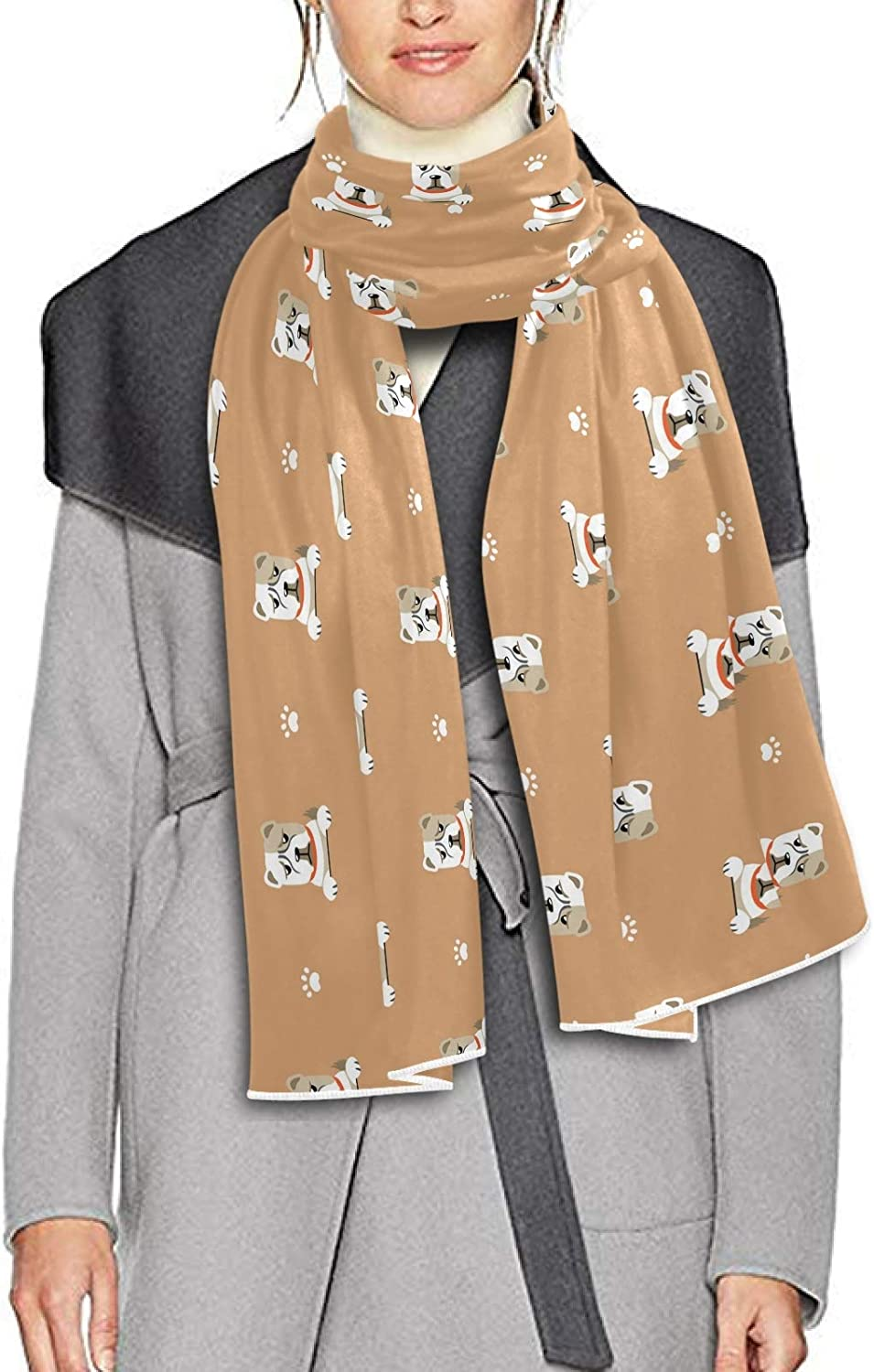 Scarf for Women and Men Cartoon Cute Dog Animal Blanket Shawl Scarves Wraps Soft Thick Winter Large Scarves Lightweight