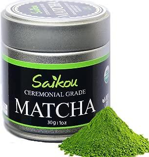 Japanese Matcha Green Tea Powder - Authentic Organic Ceremonial Grade 1st Harvest Highest Quality - Slim Tea. Weight Loss. Superfood. Perfect for Tea Ceremonies - 1oz Tin