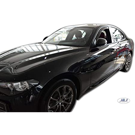 J J Automotive Windabweiser Regenabweiser Für Alfa Romeo Giulietta 5 Türer Ab 2012 4tlg Heko Dunkel Auto