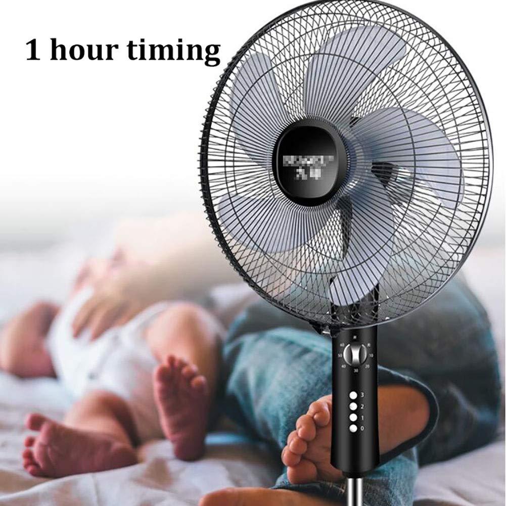 Ventilador mecánico de pie con Temporizador, Ventilador Alto de 65W de la Sala de Suelo, Soporte retráctil, Altura 15 cm: Amazon.es: Hogar