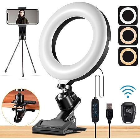 /Éclairage de Vid/éoconf/érence ACTION LED Ring Light 6 pour PC Web Conf/érence Vid/éo Anneau Lumineux pour Ordinateur Portable 3 Modes D/éclairage 10 Luminosit/é pour Youtube TikTok Vid/éo en Direct