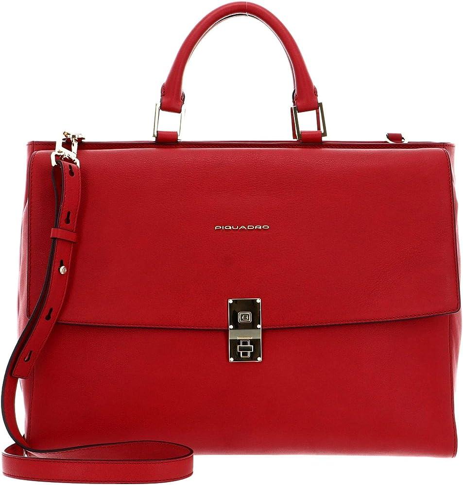 Piquadro dafne, borsa a mano per donna con scomparto laptop , in vera pelle Ca5279df