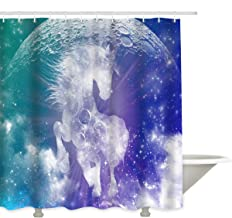 Prime Leader Shower Curtains for Bathroom with Metal Grommets- Jack Williamson's Moon Child Polyester Fabric Removable Household Bathroom Curtains 66
