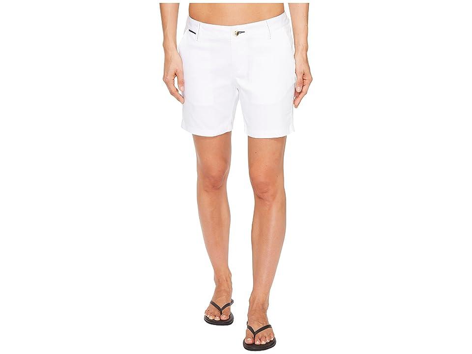 Columbia Harborside Shorts (White/Collegiate Navy) Women