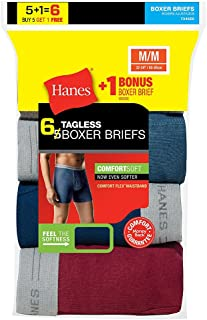 Hanes Mens Tagless Boxer Briefs with Comfort Flex Waistband
