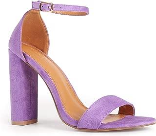 Women's Open Toe Ankle Strap Chunky High Heels Dress Heeled Sandals