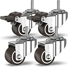 GBL® 4 Zwenkwielen 25mm Bout M6x20mm TPR Rubber | Zwaarlastwielen 40KG - Meubelzwenkwielen Voor Meubels | Zwenkwieltjes vo...