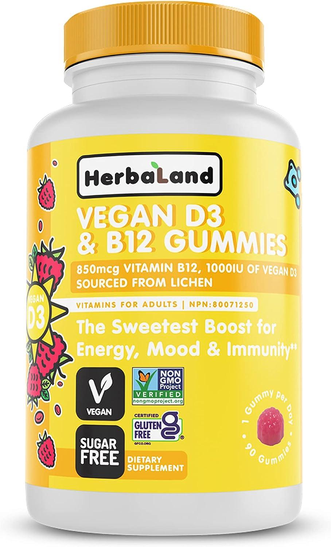 trend rank Herbaland - Vegan Vitamin D3 B12 Sy for Immune Gummies Albuquerque Mall Vitamins