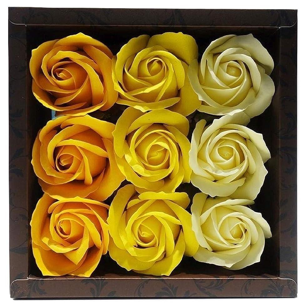 毒キロメートル平手打ちバスフレグランス バスフラワー ローズフレグランス イエローカラー ギフト お花の形の入浴剤