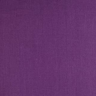 Noveltex Fabrics European 100% Laundered Linen Purple
