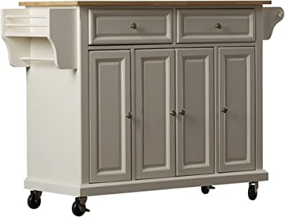 Amazon Com Home Styles 4510 95 Liberty Kitchen Cart With Wood Top