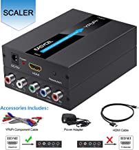EASYCEL 1080P HDMI to Component(YPbPr/RGB/ 5RCA) Scaler Converter(with Scaler Function, Aluminum), HDMI Input to Component(YPbPr/RGB/ 5RCA) Output for PC, PS3, PS4, Ro