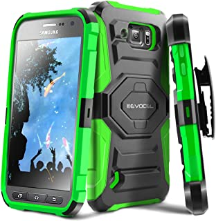 Galaxy S6 Active Case, Evocel [New Generation] Dual Layer Rugged Holster Case with Kickstand & Belt Clip for Samsung Galaxy S6 Active SM-G890 (Does NOT fit Regular S6 - S6 Active only), Green