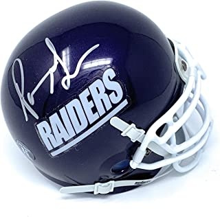 Pierre Garcon Mt Union Purple Raiders Signed Autograph Mini Helmet PG85 Hologram Certified