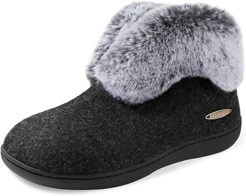 Bombing new work ULTRAIDEAS Women's Award-winning store Cozy Memory Foam Fur Plush with Slippers Faux