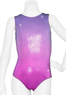 DESTIRA Girl's Shimmer Ombre Gymnastics Leotard